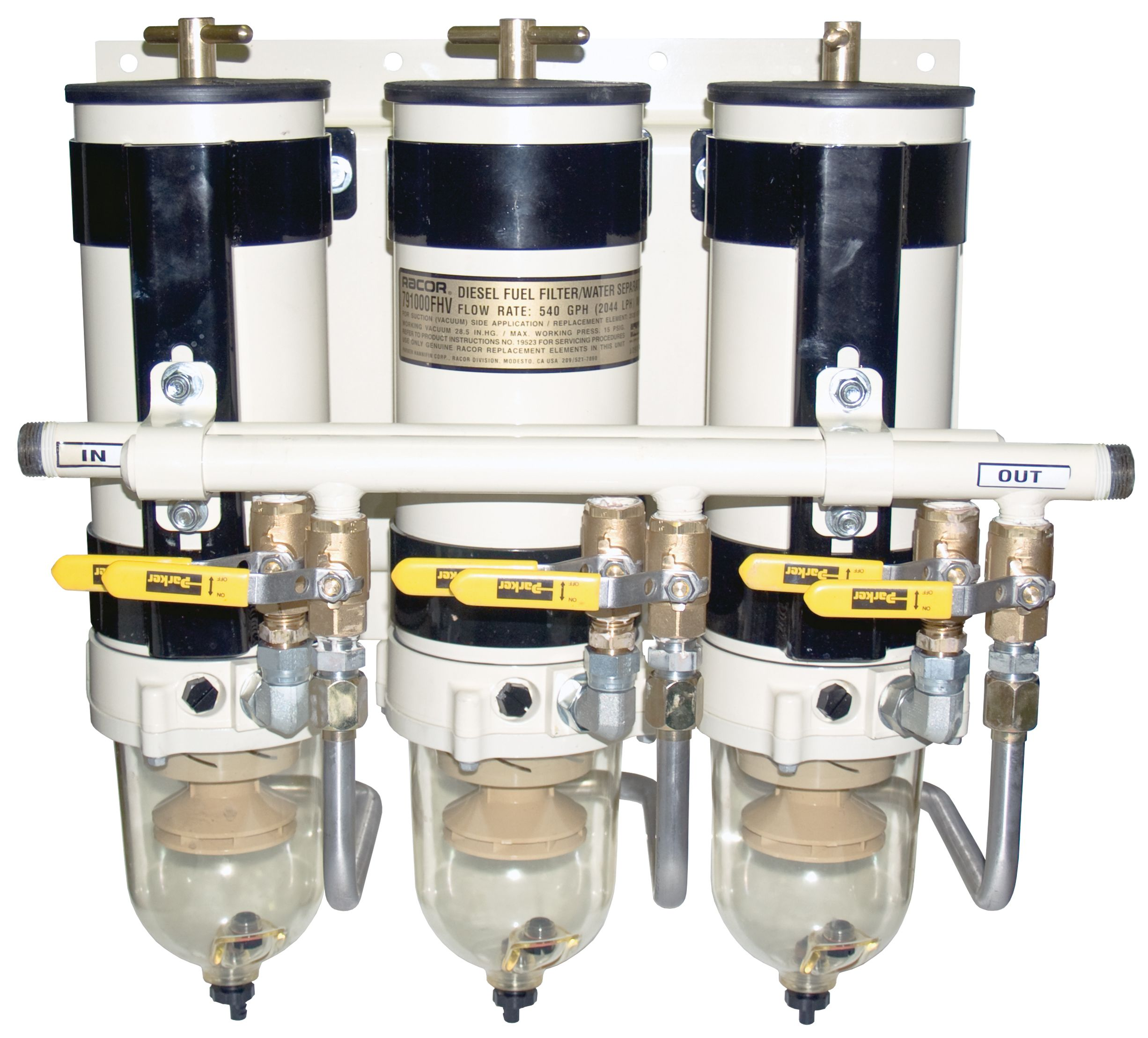 Racor 791000fhv Series Triple Turbine Assembly W Ind Filter Shut Diesel Fuel Housing Off 2 10 30 Micron